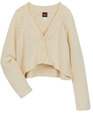 Tea Collection Pippa Pointelle Cardigan (Big Girls)