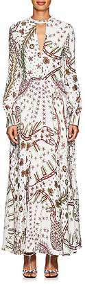 Valentino Women's Abstract-Print Crepe Maxi Dress