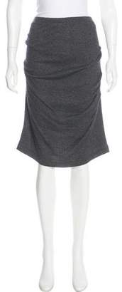 Donna Karan Angora-Blend Knee-Length Skirt w/ Tags