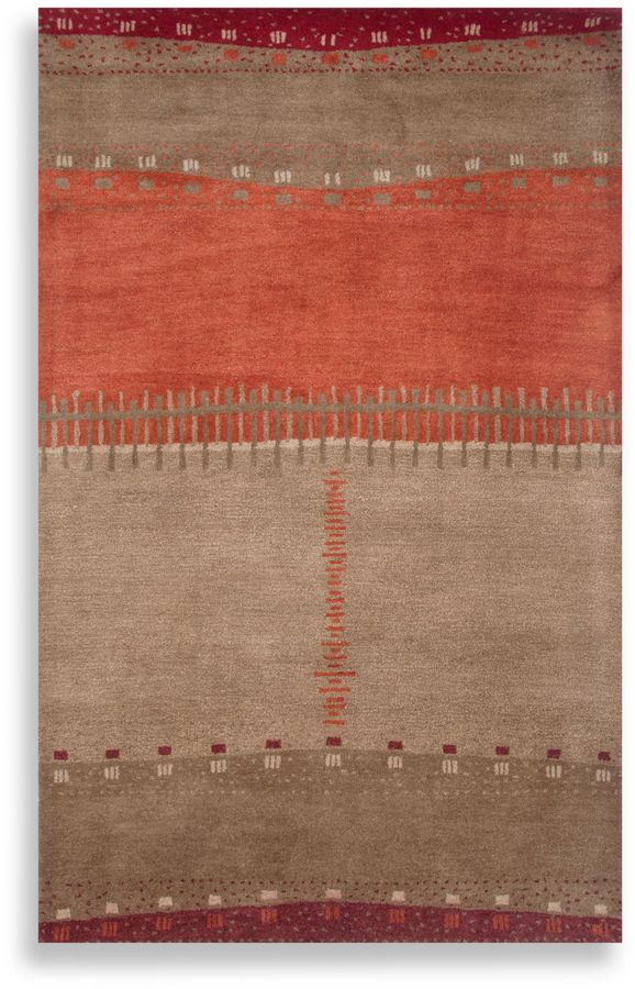 Bed Bath & Beyond Mojave Area Rug in Beige/Red