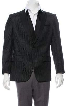 HUGO BOSS Boss by Satin-Trimmed Peaked-Lapel Blazer