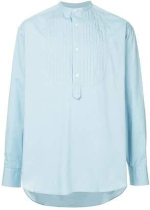 Kolor pleated bib shirt