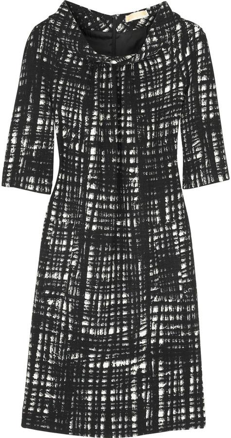 Michael Kors Abstract plaid dress