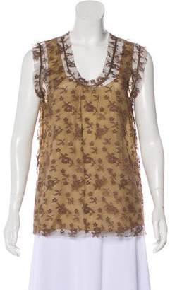 Marc Jacobs Lace Sleeveless Top