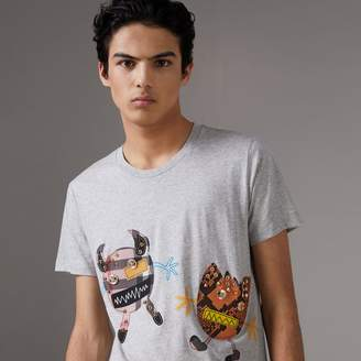 Burberry Creature Motif Cotton T-shirt