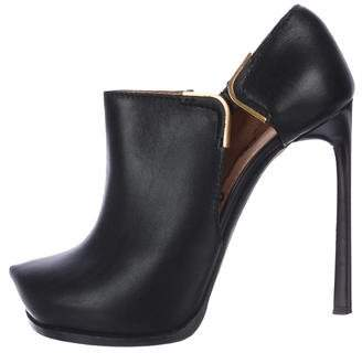 Lanvin Leather Cut-Out Booties
