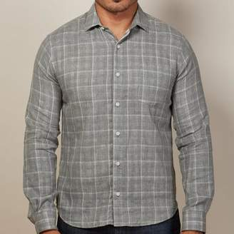 Blade + Blue Grey Windowpane & Gingham Double-Cloth Shirt - Georgie