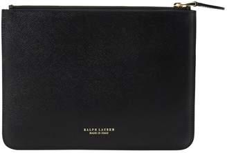 Lauren Ralph Lauren Leather Clutch Bag