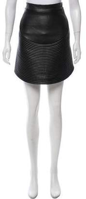 David Koma Leather Mini Skirt