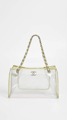 Chanel What Goes Around Comes Around Clear Vinyl Tote