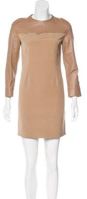 Calvin Klein Collection Silk and Leather Dress