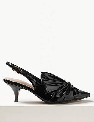 Marks and Spencer Kitten Heel Bow Slingback Court Shoes