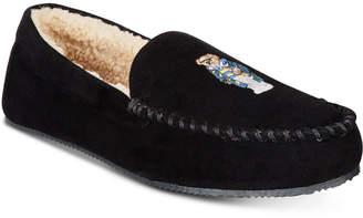 Polo Ralph Lauren Men Dezi Micro-Suede Polo Bear Slippers