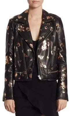 IRO Phedra Painted Leather Jacket