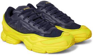 Raf Simons + adidas Originals Ozweego Mesh and Leather Sneakers