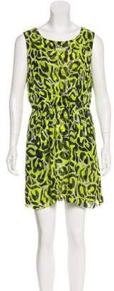 Gryphon Sheer Silk Sleeveless Dress
