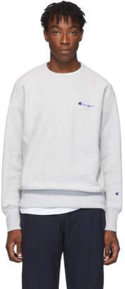 Champion Reverse Weave Grey Small Script Sweatshirt