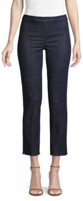 Max Mara Titta Frayed Hem Jeans