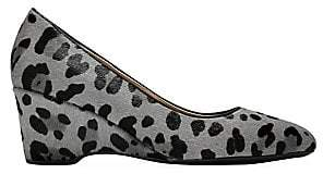 Cole Haan Women's The Go-To Leopard-Print Calf Hair & Leather Wedge Pumps