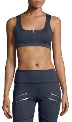 Varley Beth Sports Bra W/Front Zip, Navy $60 thestylecure.com