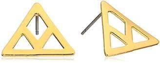 ECRU metal Cutout Chevron Earring