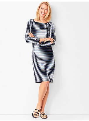 Talbots Three-Quarter Sleeve Stripe Shift Dress