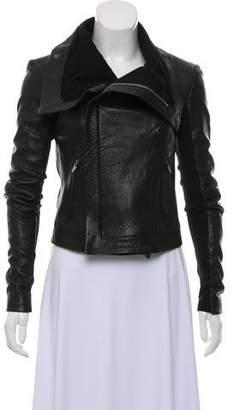 Veda Knit-Paneled Leather Jacket