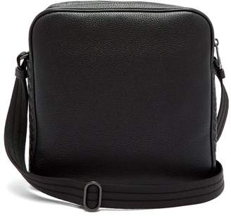 Bottega Veneta Intrecciato Trimmed Leather Messenger Bag - Mens - Black