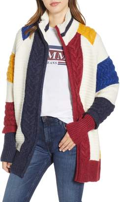 Tommy Jeans TJW Colorblock Zip Cardigan
