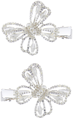 Monsoon 2x Pearl Sparkle Butterfly Hair Clips