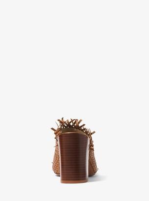 Michael Kors Clarkson Woven Leather Mule