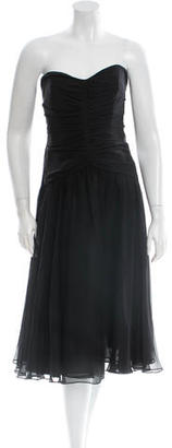Vera Wang Silk Strapless Dress $195 thestylecure.com