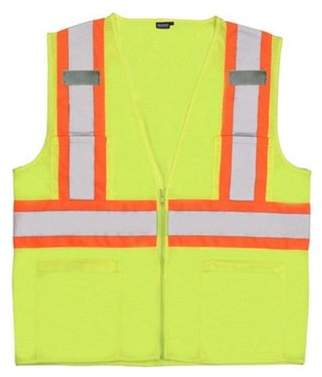 Portwest US383 Extra Large Augusta Sleeved Hi-Visibility Vest, Yellow - Regular