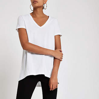 River Island White v neck loose fit T-shirt