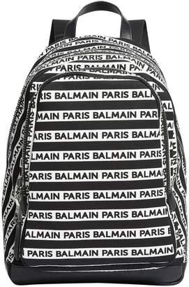 Balmain Logo Stripe Backpack