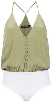 Andrea Marques silk sleeveless bodysuit