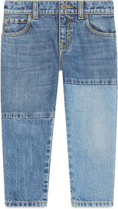 Children's patchwork denim pant