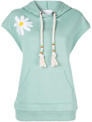 Mira Mikati Daisy Chenille Embroidered hoodie