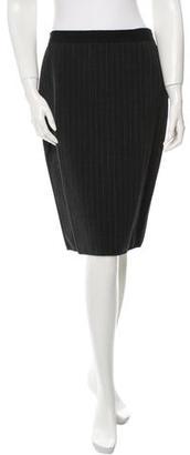 Jean Paul Gaultier Wool Pinstripe Skirt $75 thestylecure.com