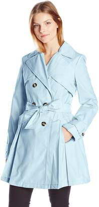 Laundry by Shelli Segal Women's Double Breasted Classic Trench Coat