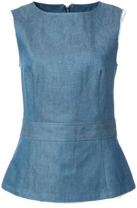 Miharayasuhiro denim fitted blouse
