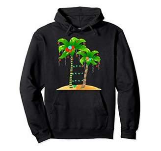 Christmas Tree Palm Hoodie Mele Kalikimaka Hawaii Xmas Gift