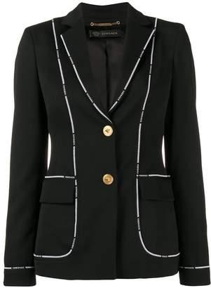 Versace Greek Key logo-trimmed jacket