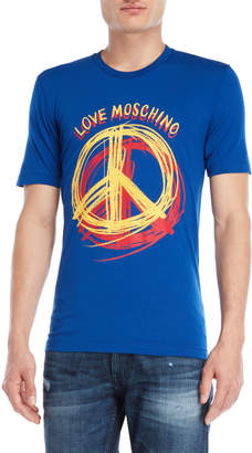 Love Moschino Peace Logo Tee