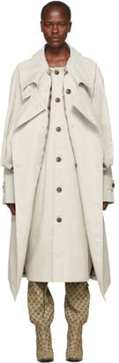 Y/Project Ivory Double Front Trench Coat