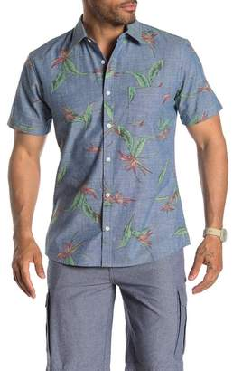 WALLIN & BROS Short Sleeve Printed Chambray Regular Fit Shirt