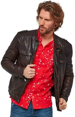 Oxblood Biker Leather Jacket