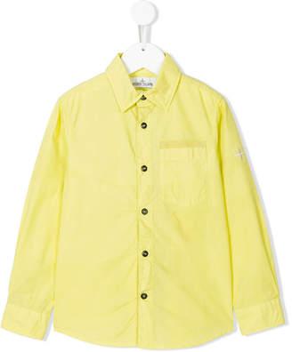 Stone Island Junior cutaway collar shirt