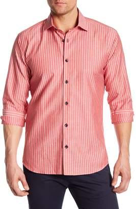 Jared Lang Stripe Woven Shirt
