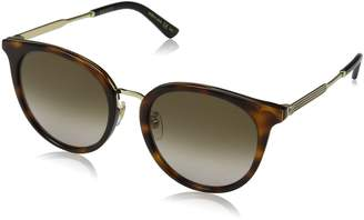 Gucci GG 0204SK 003 Havana Plastic Fashion Sunglasses Gradient Lens